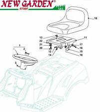 Vista desarrollada asiento e volante tractor podadora 98cm XD150 CASTELGARDEN