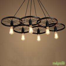 Retro loft Wheels pendant lamp Restaurant bar Ceiling Lamp LED Hanging light