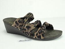 6c8d93746b06 Vionic Orthoheel Women s Park Rizzo Tan Leopard Wedge Open Toe Sandal