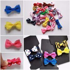 Bow Hair Alligator Clip - Premium Small Grosgrain Ribbon Slide for Toddlers girl