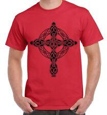 Celtic Cross Tattoo Style Hipster Large Print Men's T-Shirt
