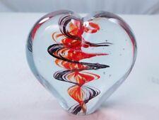 M Design Art Ruby Glass Layer XL Heart Glass Paperweight Sculpture