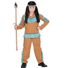 3 tlg. INDIANER JUNGE Kinder Kostüm Apache Krieger Camel 104 116 128 140 158