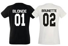 Blonde Brunette Coppia Magliette Best Friend Numero Retro Personalizzato Amiche