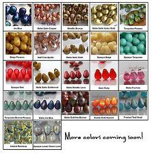 6x4mm Teardrop Czech Glass Beads 50 Choose Color NEW ARRIVALS