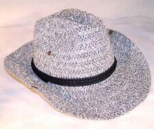 2 WOVEN COWBOY HAT W SNAP SIDES western headwear hats ladies mens caps new item