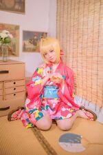 Fate Grand Order Stay Night Saber Kimono Yukata Cosplay Costume Anime Japan Neu