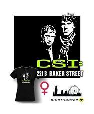 FUN T-Shirt GIRL * CSI 221 B * Sherlock Holmes Dr. Watson London Parody Satire