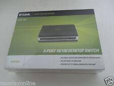 * NEW* D-Link 5-Port Hi-Speed Desktop Switch 100 RJ-45 Ethernet DES-1105 Duplex