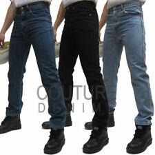 "Aztec Mens Heavy Duty Regular Fit Straight Jeans KING SIZE Extra Long Leg 36"""