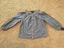 New Ralph Lauren Little Girls Long Sleeve Gauze Shirt. Size 3T, 5, 6