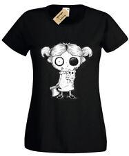 Zombie Ragazza T-Shirt da Donna Gotico Rock Burton Halloween Inquietante Undead