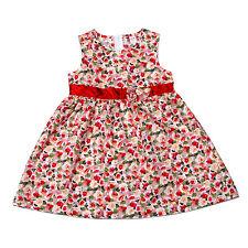 NEUF floral robe de soirée pour filles en rose noir 9-12 12-18 18-24 mois 2-3