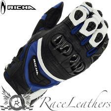 Richa Stealth verano Deportivo Negro Azul Moto Guantes