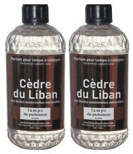 2 PARFUM INTERIEUR CEDRE LIBAN LAMPE DIFFUSEUR CATALYSE aux huiles essentielles