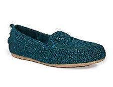 The Sak LISA Teal Crochet Driver Slip-on Flat - MSRP $58