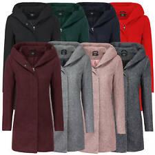 ONLY Damen Kurzmantel leichter Wintermantel Übergangsjacke Jacke große Kapuze