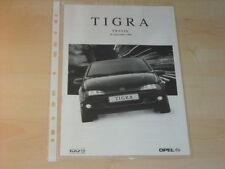 16444) Opel Tigra Preise & Extras Prospekt 09/1999