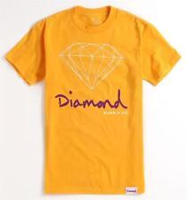 Diamond Supply Company Diamond Life Tee Mens Gold T-Shirt NWT NEW