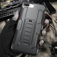 Kickstand Armor Case Apple iPhone 5 6 7 8 Plus X Clip Tough Military + GLASS