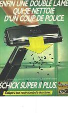 PUBLICITE ADVERTISING  1979  SCHICK rasoir manuel SUPER II PLUS
