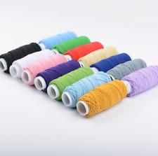 30m Elastic Stretch Round Beading Cord Braided Craft Bracelet String Rope