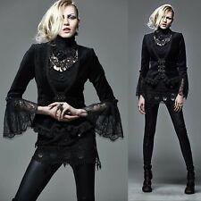 PUNK RAVE Black Velvet Jacket Viktorianische Jacke Samt EDEL GOTHIC VICTORIAN