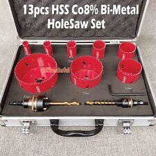 ZAMIN 13pc Hole Saw Co8% Bi Metal HSS Holesaw Professional Plumbing Electricians