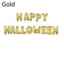 14 Pcs Happy Halloween gold , silver Foil Balloons Halloween Party deco Balloon