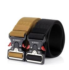 "49*1.97"" ENNIU Men Tactical Buckle Belt Military Nylon Belt Training Strap New"