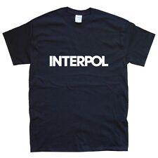 Interpol NEW T-shirt Tailles S M L XL XXL Couleurs Noir, Blanc