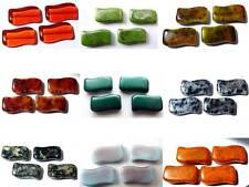 20 (mm) en verre tchèque ondulé plat coussin / rectangulaire drapeau perles - 8pcs