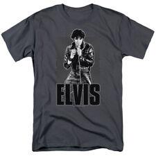 Elvis Leather T-shirts & Tanks for Men Women or Kids