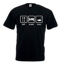 T-shirt Maglietta T-shirt Maglietta J1241 Eat Sleep Fish Pesca Carpfishing