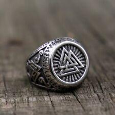 Handgefertigte Bronze Wikinger Kopf Wolf Wolfskopf Fenrir Biker Viking Ring