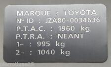 Plaque de Tare gravée