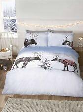 Reindeer Jumpers Fun Novelty Christmas Bedding Seasonal Cosy Warm Duvet Cover