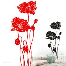 Wandtattoo Mohn Mohnblumen Wandaufkleber Wandsticker Deko Blume Floral Motiv 310