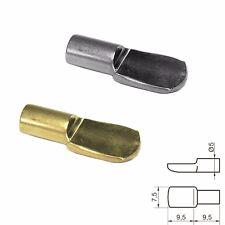 Lot de 10 taquets d´étagère placard - métal Ø 5 mm