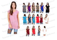Womens Plus Size Tunic Ladies Top Short Sleeve Casual Summer Tee Shirt