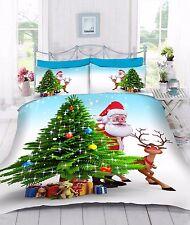 Digital 3d Stampato Babbo Natale Piumone trapunta copertura letto Set Con Federe
