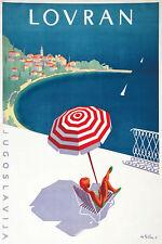 Vintage Lovran Yugoslavia Tourism Poster A3 Print