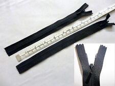 "Zip, Zipper,8""/20cm, 9""/23cm Hidden,Skirt CE, Nylon. YKK, Black, Two"