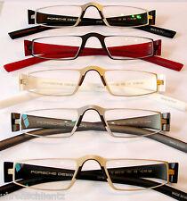 PORSCHE DESIGN P 8801 tutti i colori +1,0 +1,5 +2,0 +2,5 NUOVO Occhiali mezza nahbrille