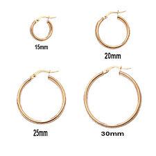 9ct Gold  Hallmarked  Stylish Hoop Earrings  Diamond Cut Edges With Satin Finish