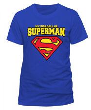 Superman Logo My Kids Call me Man of Steel DC Comics Männer Men T-Shirt Blau