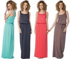 Sommer-Kleid Maxi Kleid elastischer Bund Gr. 36 38 40 42 44 46, B21