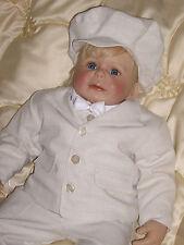 Taufanzug Beige *Festanzug Blumenkind Taufe* Kinderanzug Set Junge