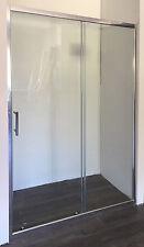 SHOWER SCREEN ADJUSTABLE SEMI-FRAMED WALL TO WALL SLIDING DOOR