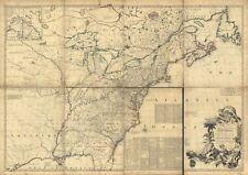 Stampa POSTER Antico Mappa del nord america nord usa